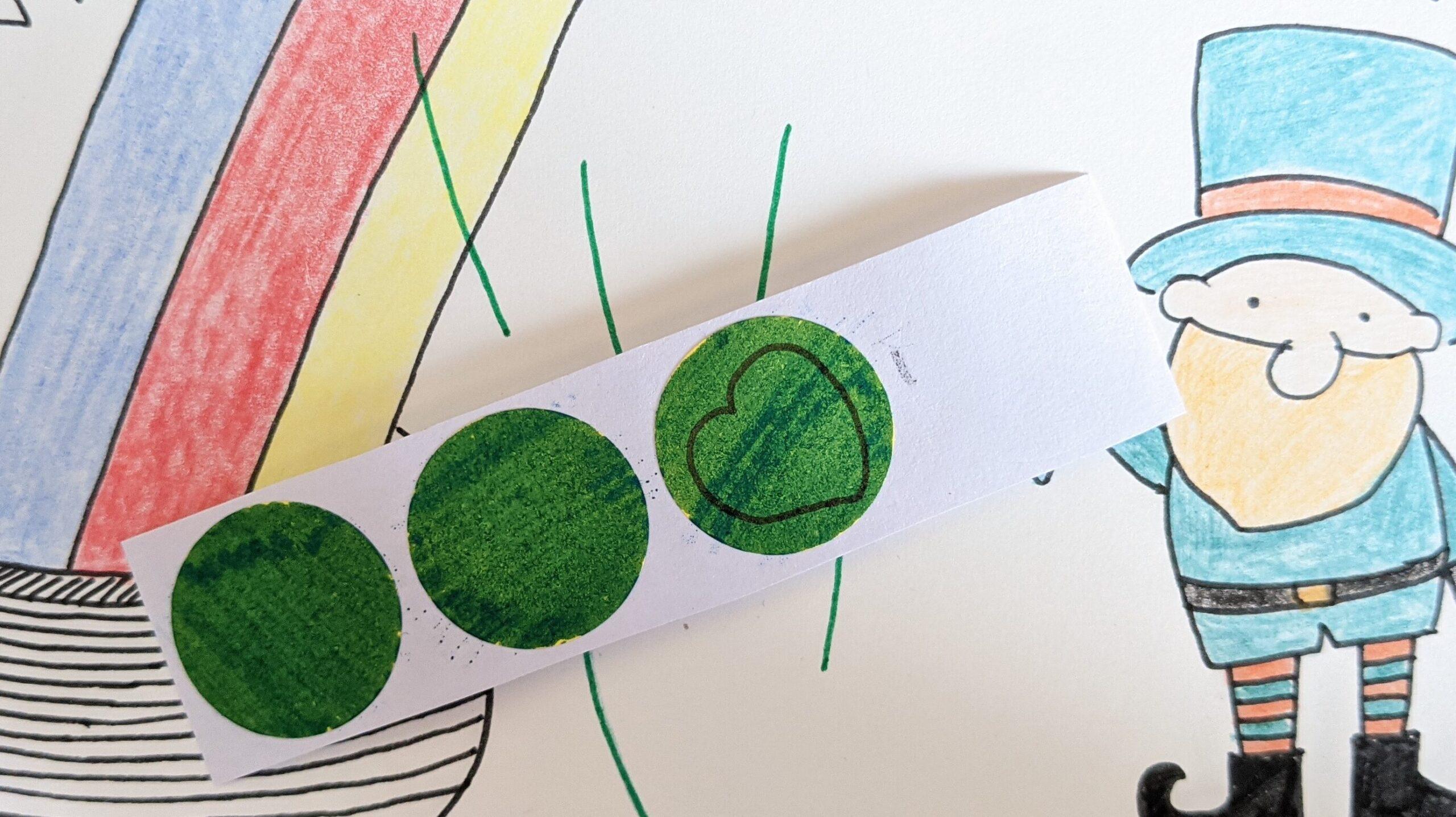 緑のシールを作ろう